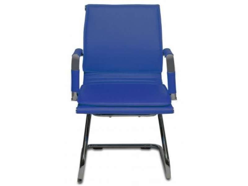 CH-993-LOW-V/BLUE НИЗКАЯ СПИНКА СИНИЙ ИСКУССТВЕННАЯ КОЖА
